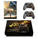 Assassin's Creed Origins decal skin sticker for Xbox One X console and controllers