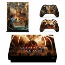 Shadow of War decal skin sticker for Xbox One X console and controllers