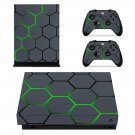 Hexagon Pattern decal skin sticker for Xbox One X console and controllers