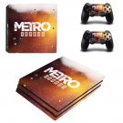 Metro Exodus decal skin sticker for PS4 Pro console and controllers