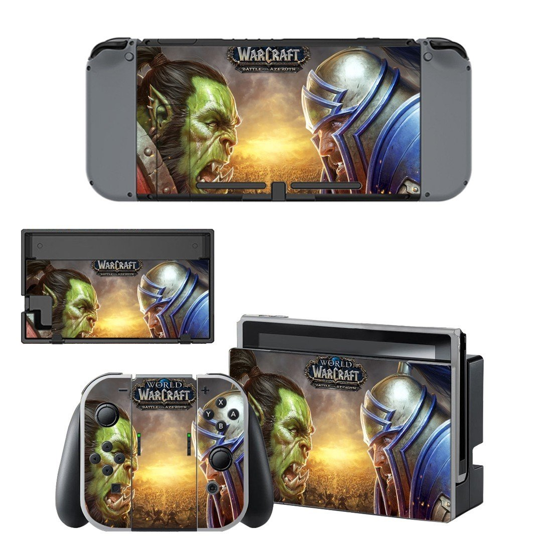 World of Warcraft decal skin sticker for Nintendo Switch console and controllers
