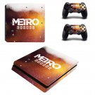 Metro Exodus decal skin sticker for PS4 Slim console and controllers