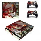 Rick and Morty decal skin sticker for PS4 Slim console and controllers