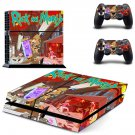 Rick an Morty decal skin sticker for PS4 console and controllers