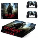Friday the 13th decal skin sticker for PS4 console and controllers