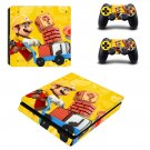 Super Mario Maker decal skin sticker for PS4 Slim console and controllers