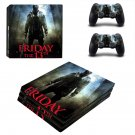 Friday the 13th decal skin sticker for PS4 Pro console and controllers