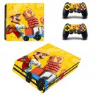 Super Mario Maker decal skin sticker for PS4 Pro console and controllers