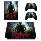 Friday the 13th decal skin sticker for Xbox One X console and controllers