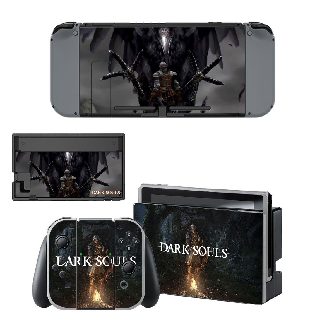Dark Souls decal skin sticker for Nintendo Switch console and controllers