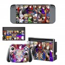 BlazBlue Cross Tag Battle decal skin sticker for Nintendo Switch console and controllers