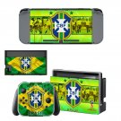 Brazilian Football Confederation decal skin sticker for Nintendo Switch console and controllers