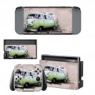 Hippie van wallpaper decal skin sticker for Nintendo Switch console and controllers