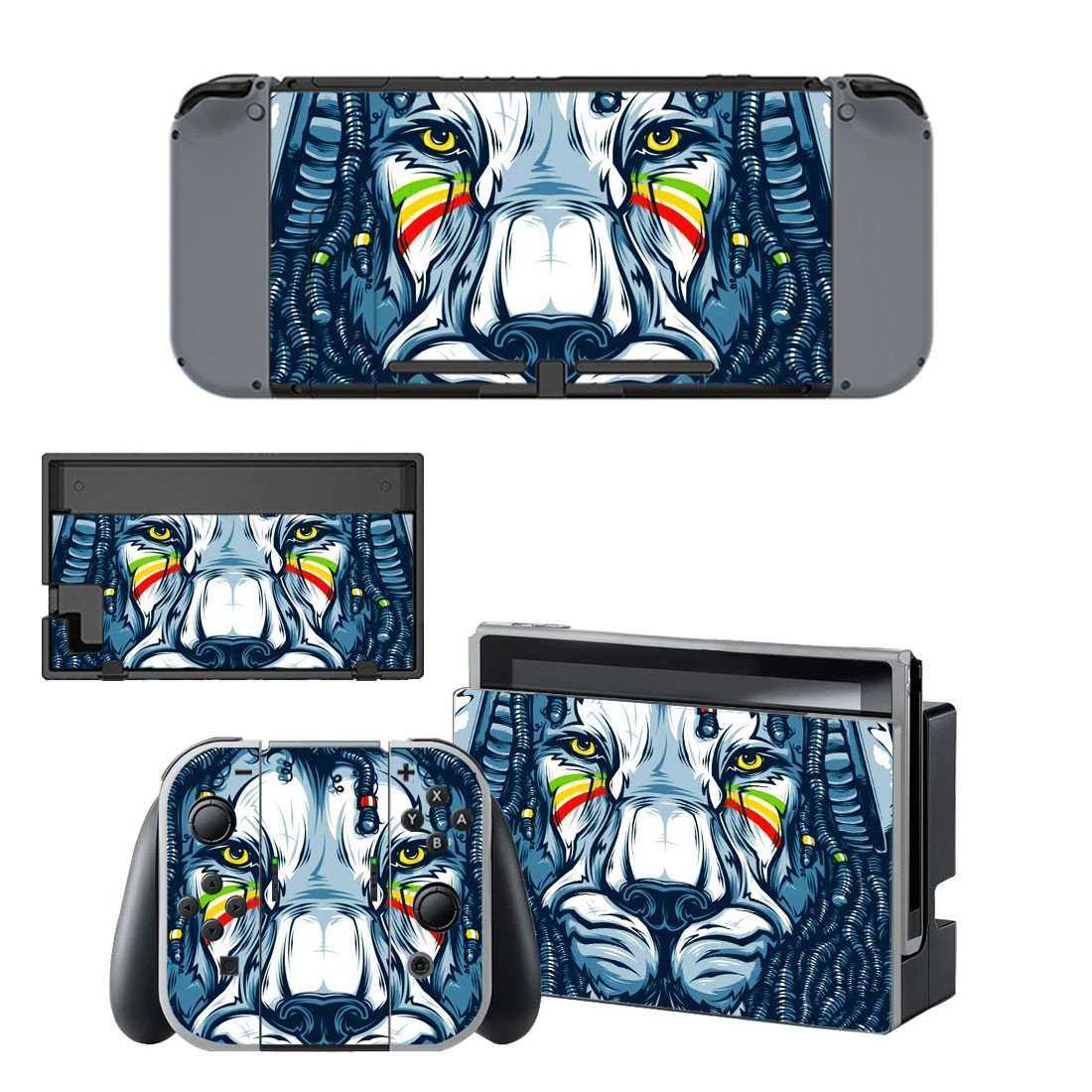 Lion Wallpaper decal skin sticker for Nintendo Switch console and controllers