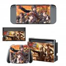 Valkyria Chronicles 4 decal skin sticker for Nintendo Switch console and controllers