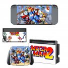 Mega Man 2 decal skin sticker for Nintendo Switch console and controllers