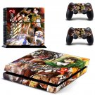 Attack on Titan 2 decal skin sticker for PS4 console and controllers