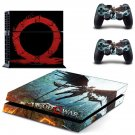 God of war 4 decal skin sticker for PS4 console and controllers