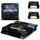 Detroit become human decal skin sticker for PS4 console and controllers