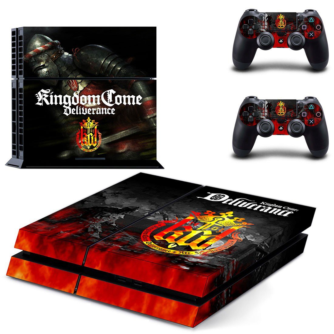 Kingdom Come Deliverance decal skin sticker for PS4 console and controllers