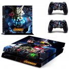 Avengers infinity war decal skin sticker for PS4 console and controllers