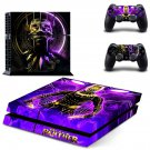Black Panther decal skin sticker for PS4 console and controllers