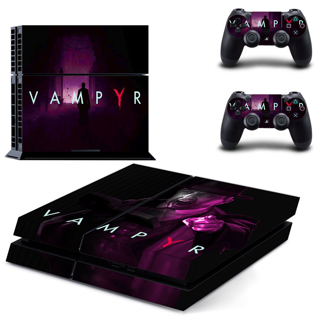 Vampyr decal skin sticker for PS4 console and controllers