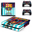 FC Barcelona Messi decal skin sticker for PS4 console and controllers