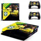 Brazilian Football Confederation decal skin sticker for PS4 console and controllers