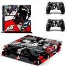 Persona 5 decal skin sticker for PS4 console and controllers