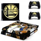 Golden state warriors decal skin sticker for PS4 console and controllers