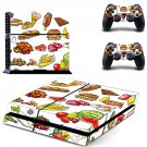 Fast food decal skin sticker for PS4 console and controllers