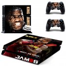 Lebron James decal skin sticker for PS4 console and controllers