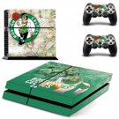 Boston Celtics decal skin sticker for PS4 console and controllers
