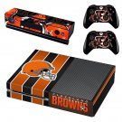 Cleveland Browns decal skin sticker for Xbox One console and controllers