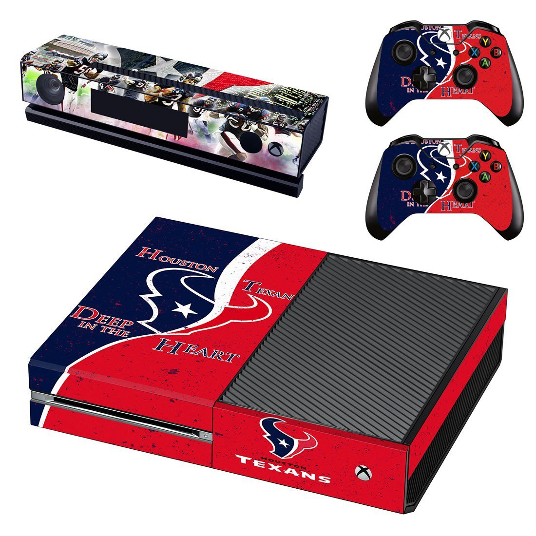 Houston Texas decal skin sticker for Xbox One console and controllers