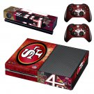 San Francisco 49ers decal skin sticker for Xbox One console and controllers