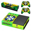 Brazilian Football Confederation decal skin sticker for Xbox One console and controllers
