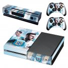 Argentine Football Association Messi decal skin sticker for Xbox One console and controllers