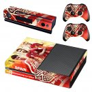 Spain National FT decal skin sticker for Xbox One console and controllers