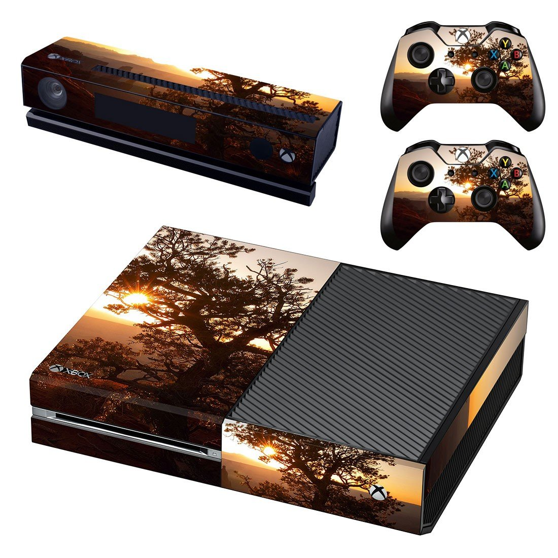 Tree Wallpaper decal skin sticker for Xbox One console and controllers