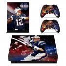 Tom Brady Quarterback decal skin sticker for Xbox One X console and controllers