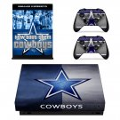 Dallas Cowboys decal skin sticker for Xbox One X console and controllers