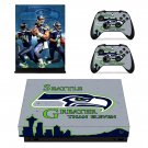 Seattle black hawk decal skin sticker for Xbox One X console and controllers