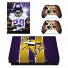 Minnesota Vikings decal skin sticker for Xbox One X console and controllers