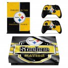 Pittsburgh Steelers decal skin sticker for Xbox One X console and controllers