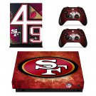 San Francisco 49ers decal skin sticker for Xbox One X console and controllers