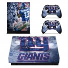New York Giants decal skin sticker for Xbox One X console and controllers