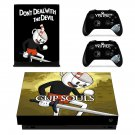 Cuphead decal skin sticker for Xbox One X console and controllers