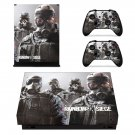 Tom Clancy's Rainbow Six Siege decal skin sticker for Xbox One X console and controllers